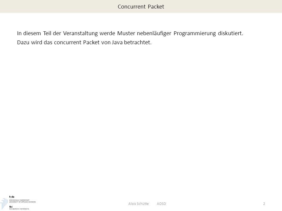 Concurrent Packet – Executor Die meisten Implementierungen der Executor-Schnittstellen benutzen Threadpools, die aus Workerthreads bestehen.