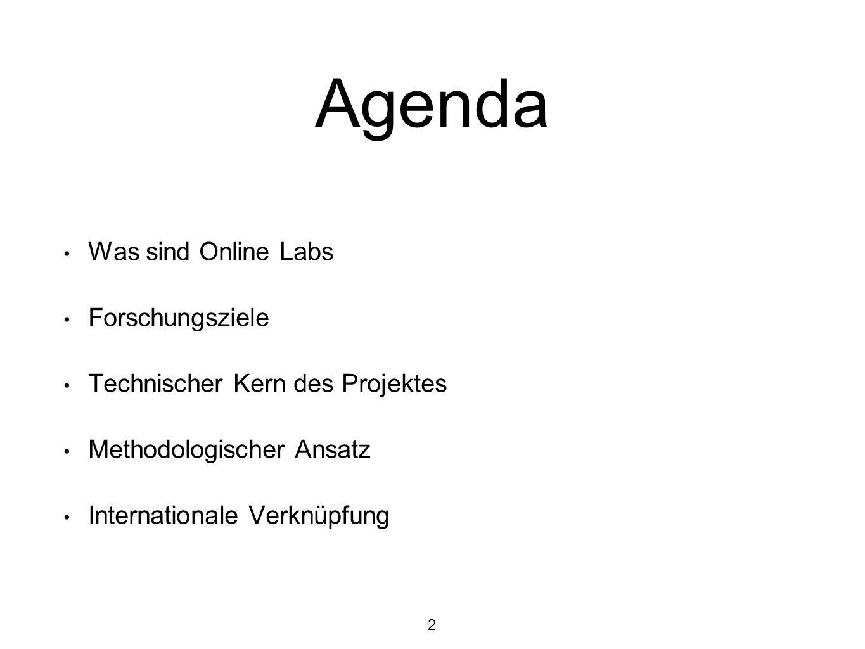 Was sind Online-Labore über das Internet zugängliche virtuelle Labore oder Remote-Labore können in Lehre und Forschung eingesetzt werden.