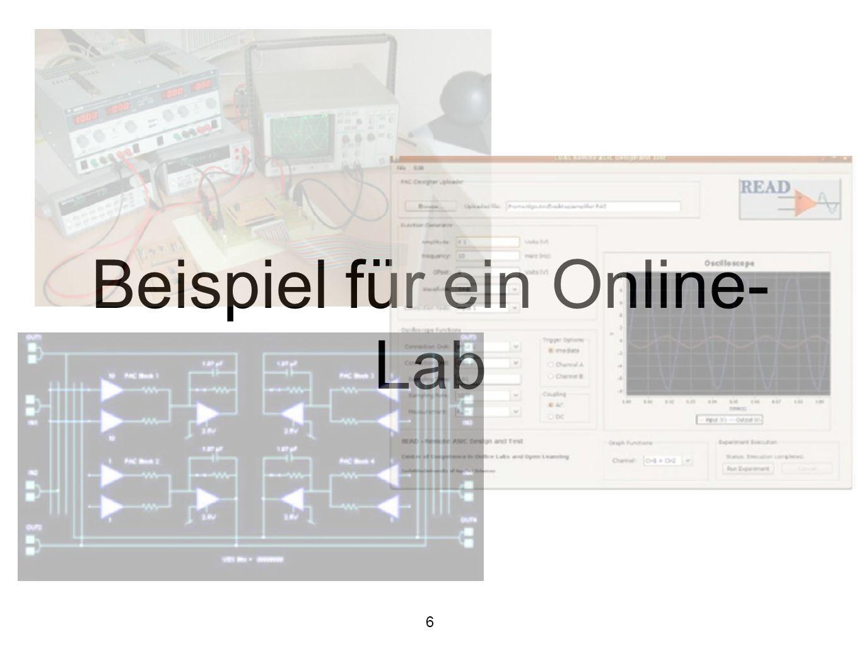 Online Labore und Open Innovation Online Labore sind in der Regel offen zugänglich, meist nach vorheriger Registration z.B.