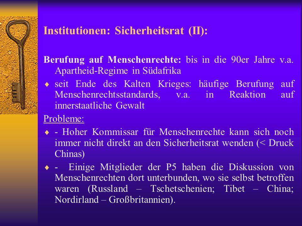Institutionen: Generalversammlung Art.