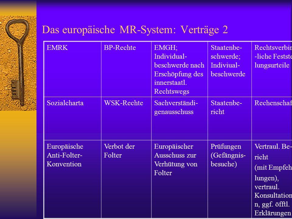 Das europäische MR-System: Verträge 3 EU-RechtEinzelne geschr.