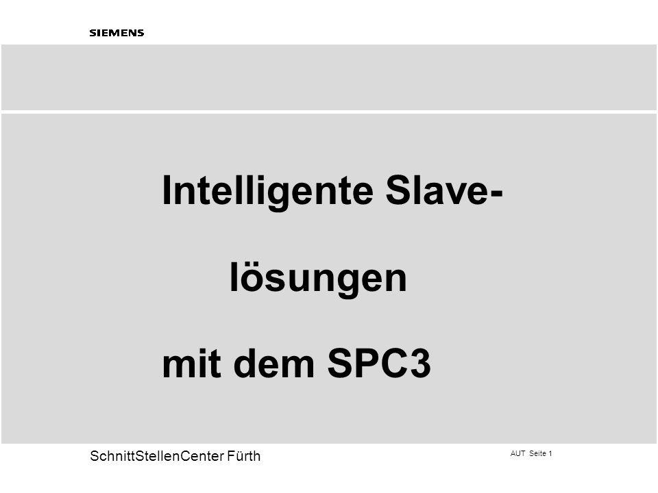 AUT Seite 32 20 SchnittStellenCenter Fürth Beschreibung der DP- Dienste (SPC3) Set_Slave_Address (SAP 55)  Dienst kann gesperrt werden ( R_SSA_PUF_PTR= 0H), wenn Adresse anders eingestellt werden kann.