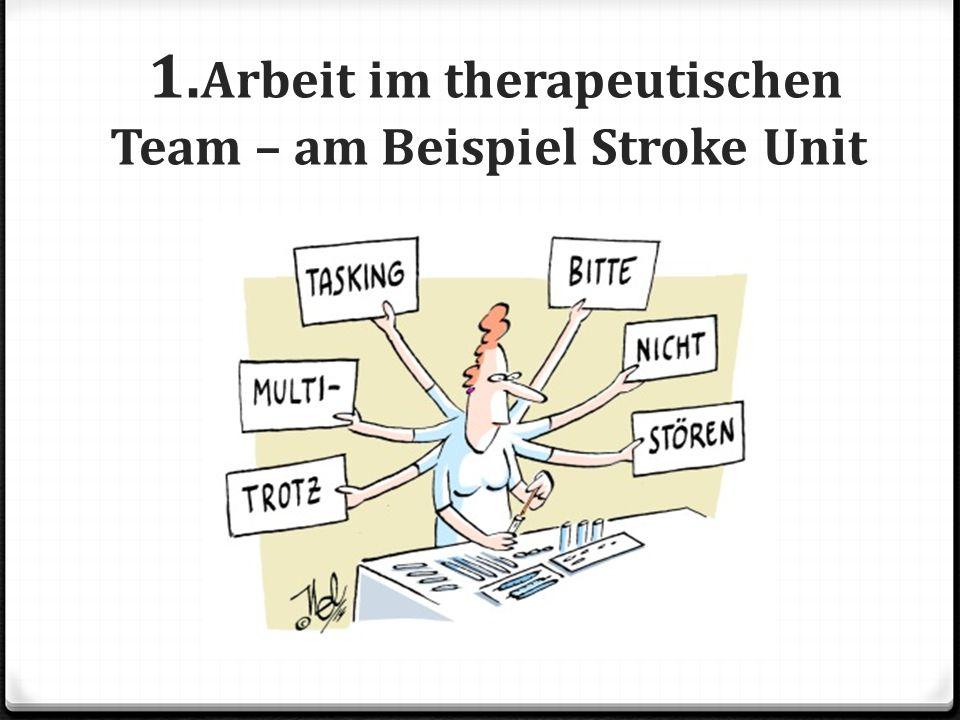 1. Arbeit im therapeutischen Team – am Beispiel Stroke Unit