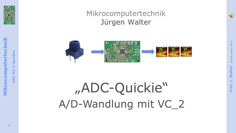 Mikrocomputertechnik ADC-P1-1-Quickie Prof.J.