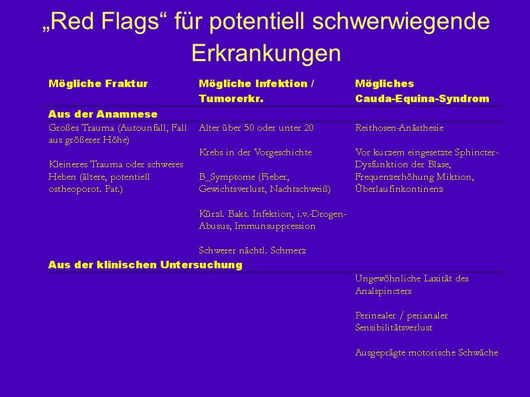 """""""Red Flags"""" für potentiell schwerwiegende Erkrankungen"""