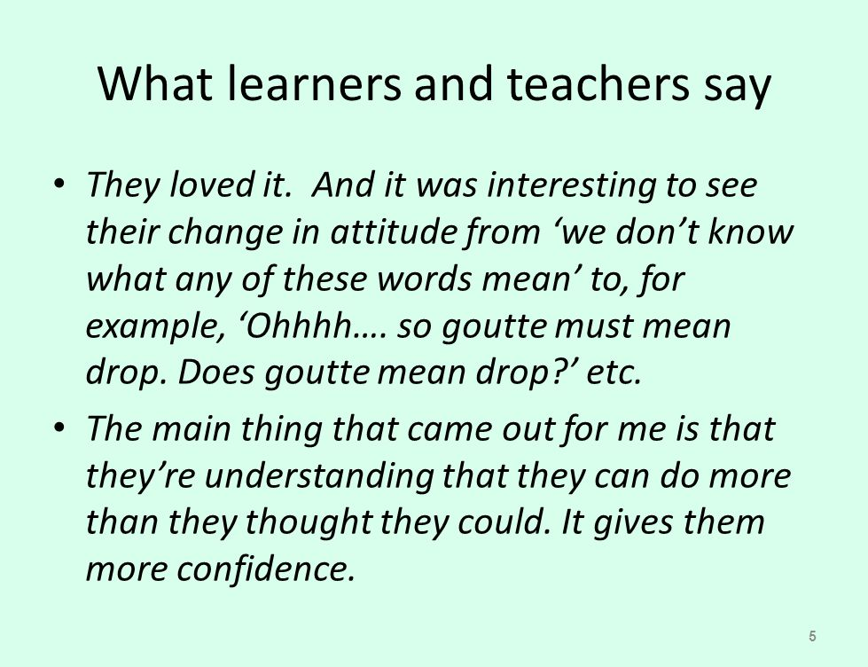Guided practice As you progress through the paragraph, keep asking them: does this interpretation fit with what went before.