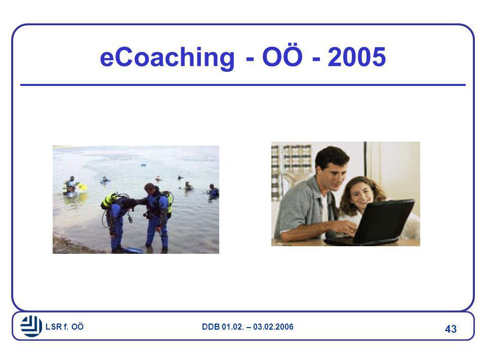 LSR f. OÖ DDB 01.02. – 03.02.2006 43 eCoaching - OÖ - 2005