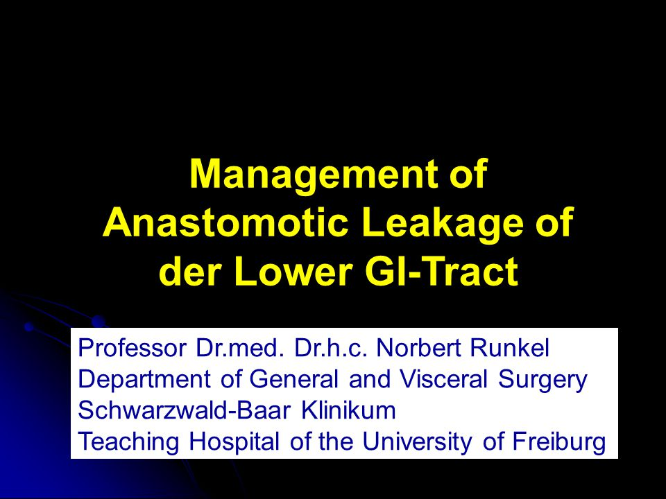 Protektives Stoma Defunctioning Stoma Reduces Symptomatic Anastomotic Leakage After Low Anterior Resection of the Rectum for Cancer A Randomized Multicenter Trial Peter Matthiessen, MD, PhD,* Olof Hallböök, MD, PhD,‡ Jörgen Rutegård, MD, PhD,* Göran Simert, MD, PhD,† and Rune Sjödahl, MD, PhD‡ Ann Surg.