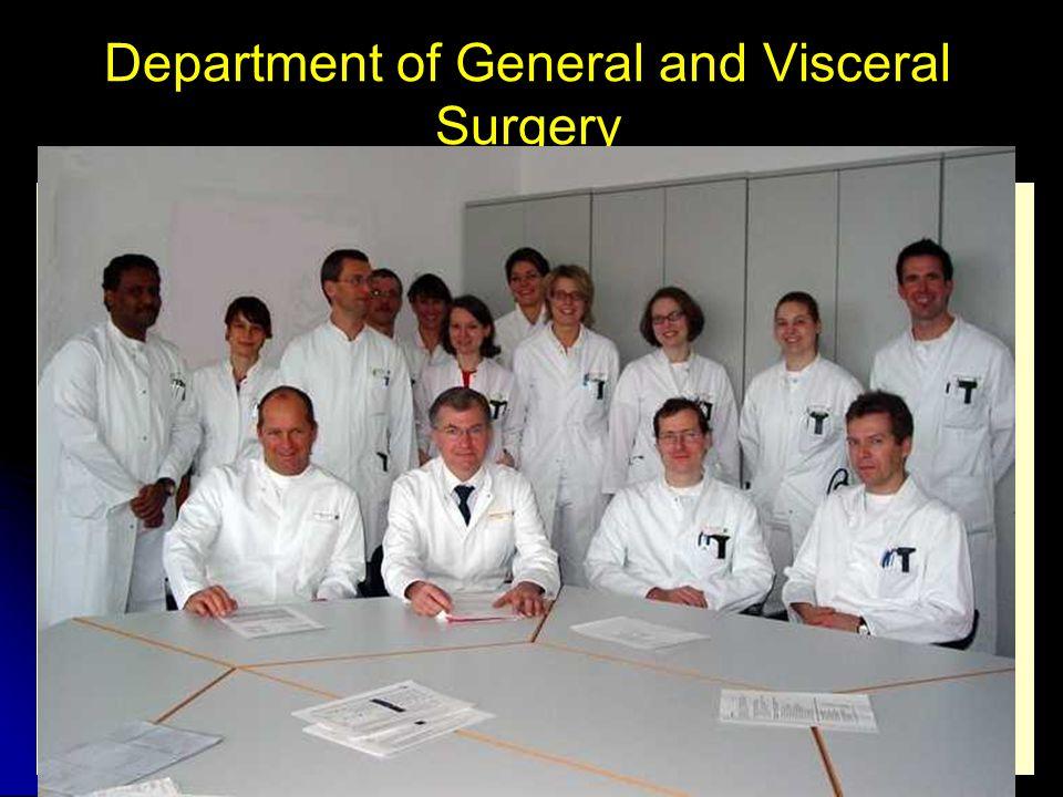 Center of Excellence/ Certification Surgical Oncology (Onkologischer Schwerpunkt Schwarzwald-Baar-Heuberg) Coloproktologie (CACP) Center für Colorectal Cancer (Darmzentrum) Continence-Center Südwest (DKG) Surgical Endoscopie (CAES) Bariatric Surgery Center Minimal Invasive Surgery Center (Hospitationsklinik der CAMIC) Wound- and Enterostomy-Center Department of General and Visceral Surgery
