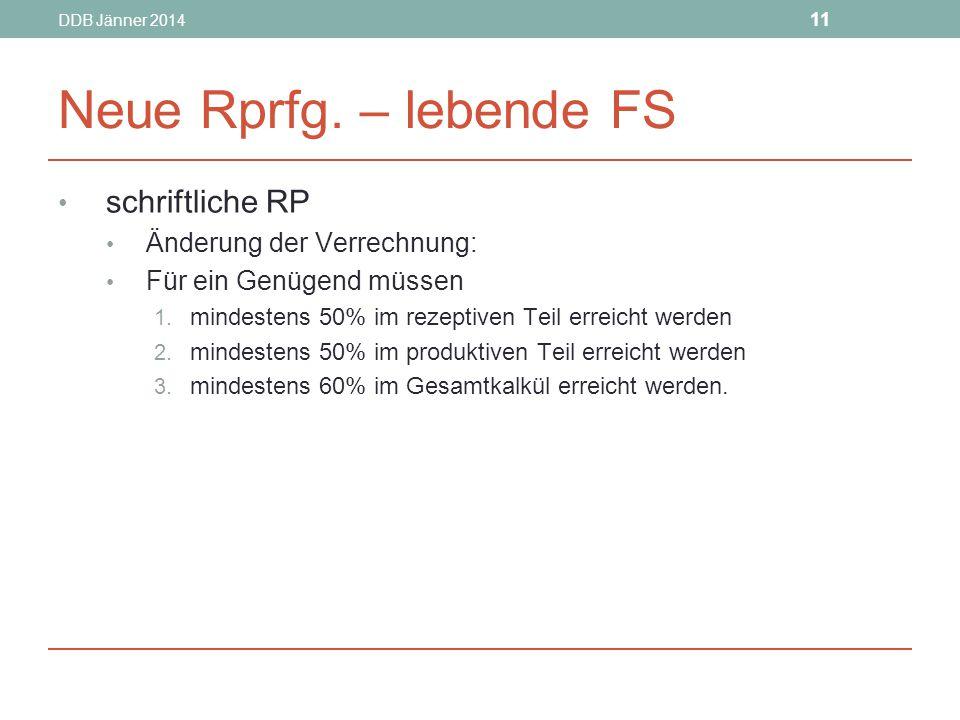 DDB Jänner 2014 11 Neue Rprfg.