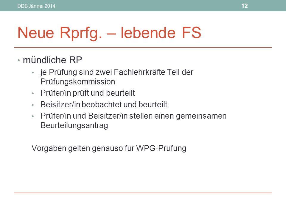 DDB Jänner 2014 12 Neue Rprfg.