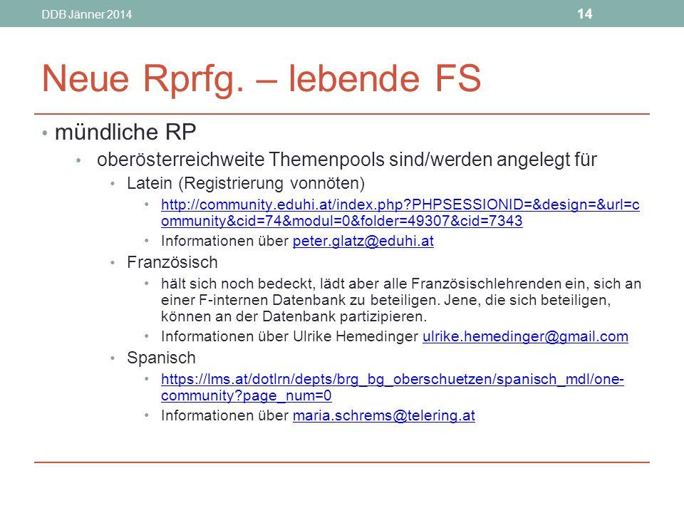 DDB Jänner 2014 14 Neue Rprfg.