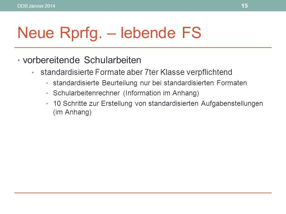 DDB Jänner 2014 15 Neue Rprfg.