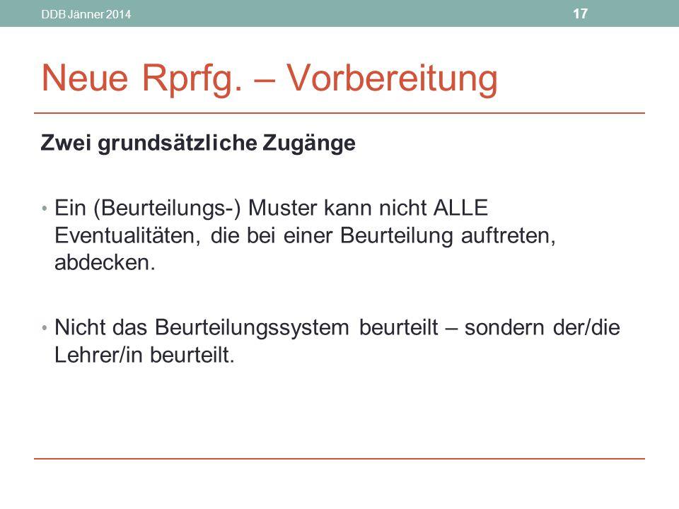 DDB Jänner 2014 17 Neue Rprfg.