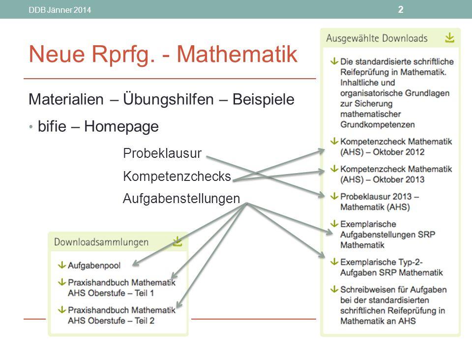 DDB Jänner 2014 2 Neue Rprfg.