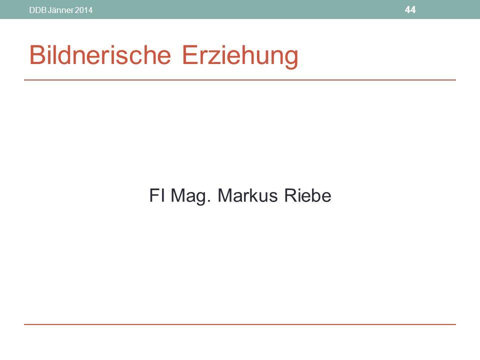 DDB Jänner 2014 44 Bildnerische Erziehung FI Mag. Markus Riebe