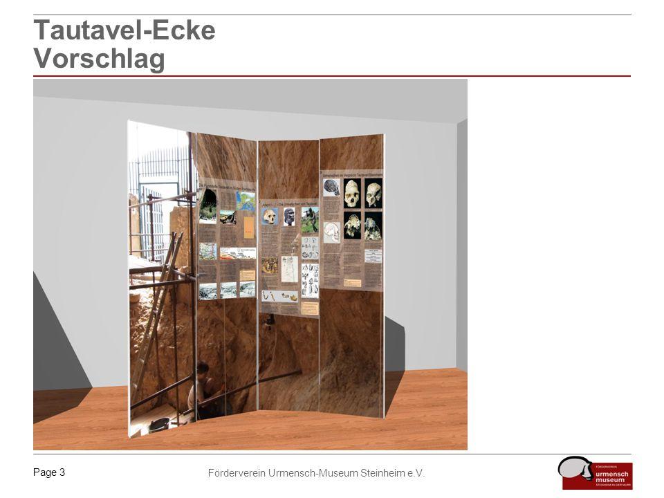Page 3 Förderverein Urmensch-Museum Steinheim e.V. Tautavel-Ecke Vorschlag