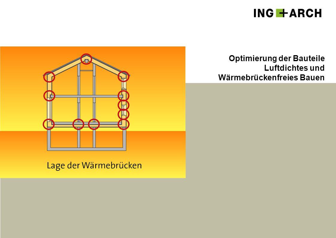 Optimierung der Bauteile Luftdichtes und Wärmebrückenfreies Bauen