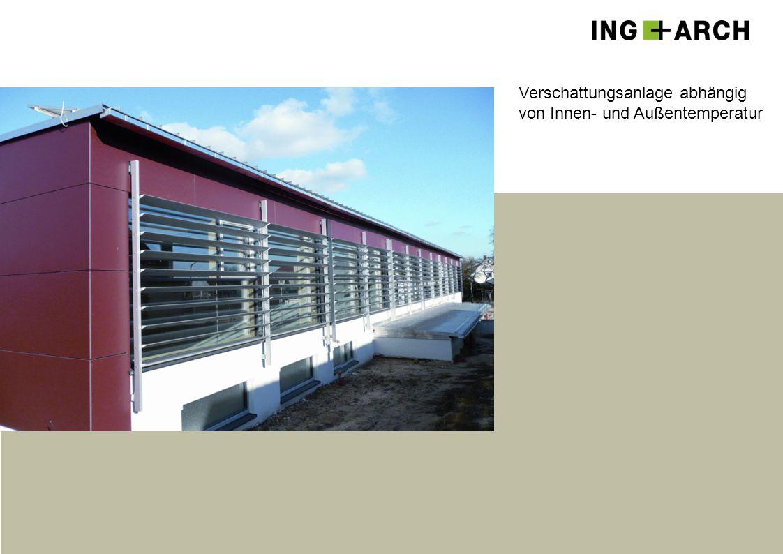 Verschattungsanlage abhängig von Innen- und Außentemperatur