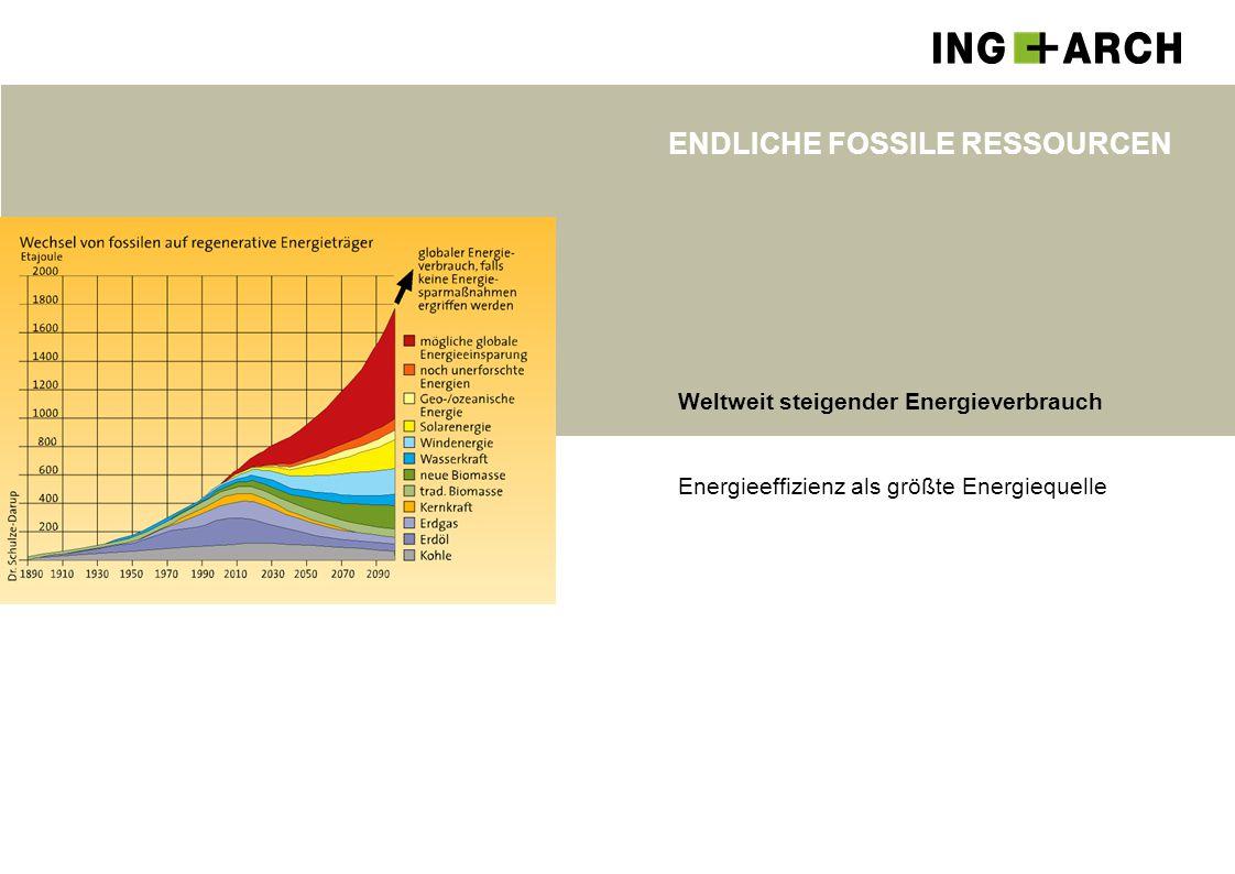 ENDLICHE FOSSILE RESSOURCEN Weltweit steigender Energieverbrauch Energieeffizienz als größte Energiequelle