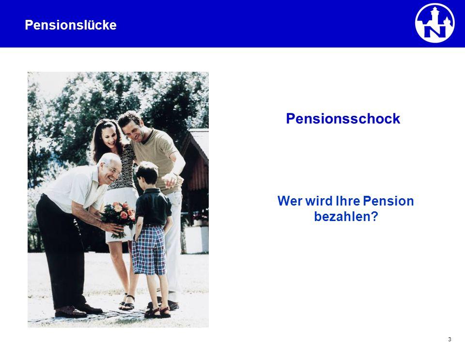 3 Wer wird Ihre Pension bezahlen? Pensionsschock Pensionslücke