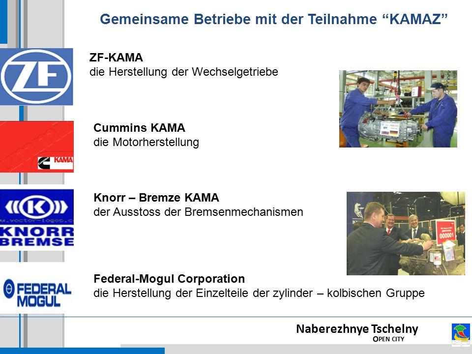 """Gemeinsame Betriebe mit der Teilnahme """"KAMAZ"""" Naberezhnye Tschelny O PEN CITY Federal-Mogul Corporation die Herstellung der Einzelteile der zylinder –"""