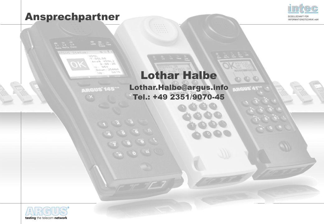 Lothar Halbe Lothar.Halbe@argus.info Tel.: +49 2351/9070-45 Ansprechpartner