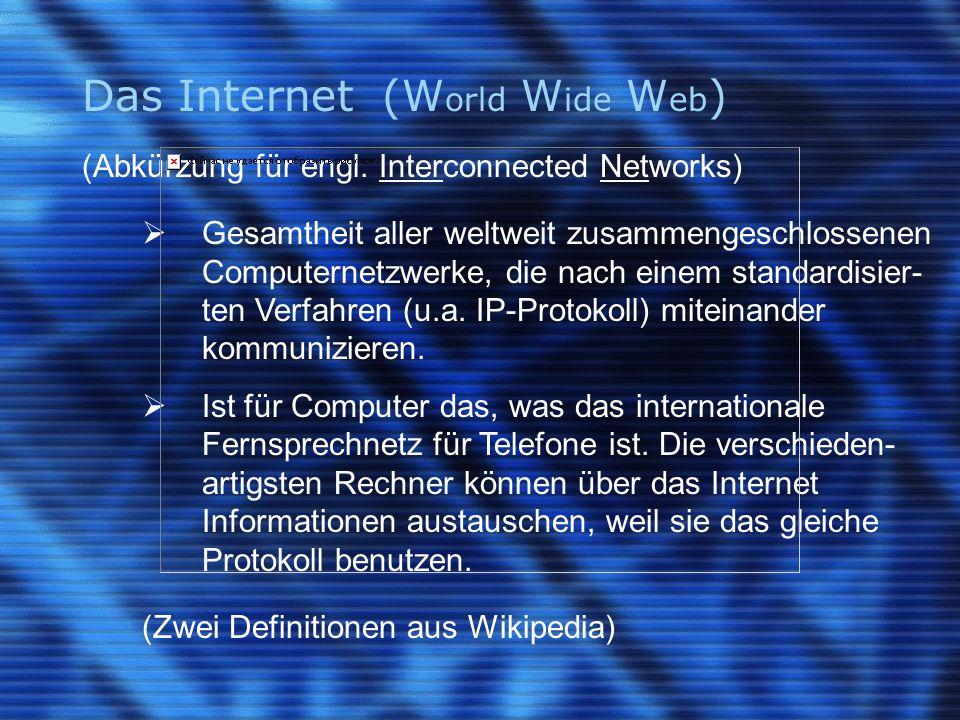 Der Browser bzw.Web-Browser (engl.