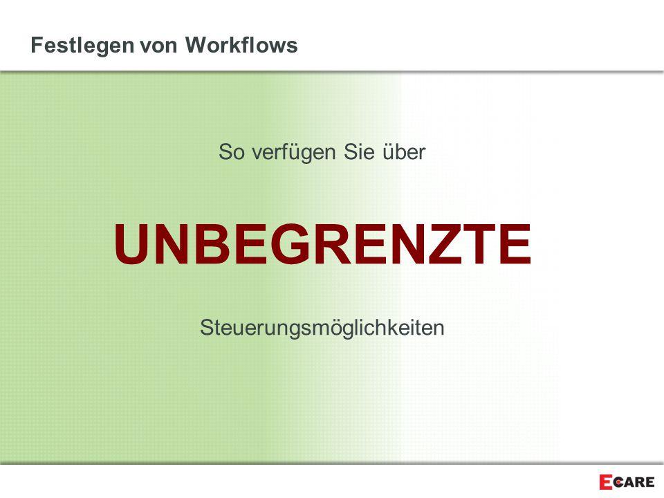 Festlegen von Workflows So verfügen Sie über UNBEGRENZTE Steuerungsmöglichkeiten