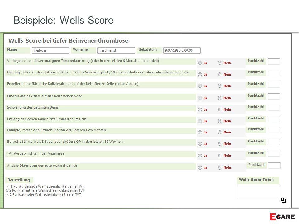 Beispiele: Wells-Score