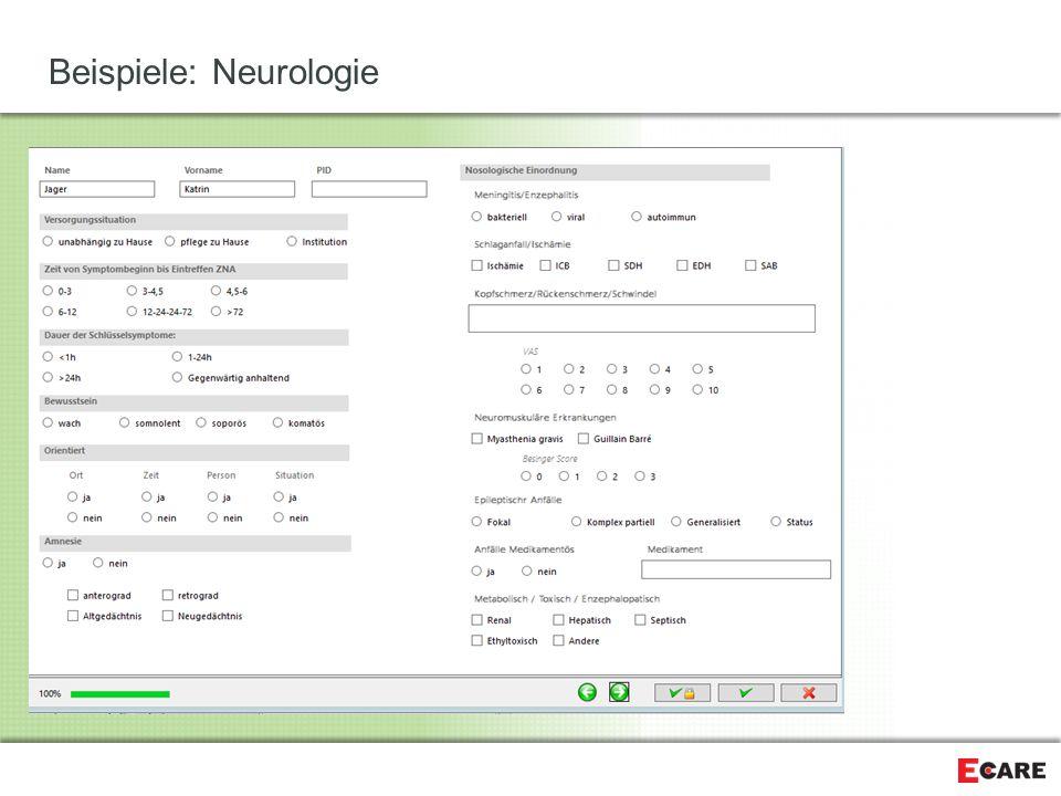Beispiele: Neurologie