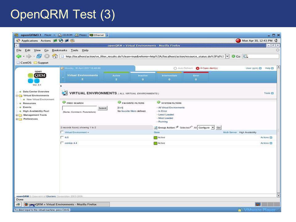 OpenQRM Test (3)