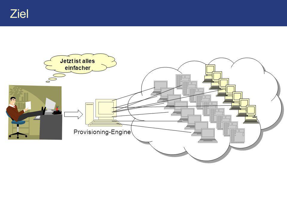 Ziel Jetzt ist alles einfacher Provisioning-Engine