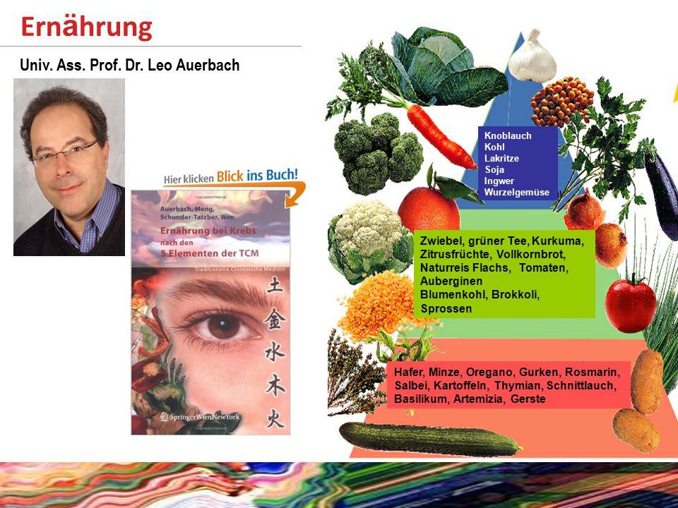 Ern ä hrung http://www.krebshilfe-wien.at/Komplementaermedizin.102.0.html Knoblauch Kohl Lakritze Soja Ingwer Wurzelgemüse Zwiebel, grüner Tee, Kurkuma, Zitrusfrüchte, Vollkornbrot, Naturreis Flachs, Tomaten, Auberginen Blumenkohl, Brokkoli, Sprossen Hafer, Minze, Oregano, Gurken, Rosmarin, Salbei, Kartoffeln, Thymian, Schnittlauch, Basilikum, Artemizia, Gerste Univ.