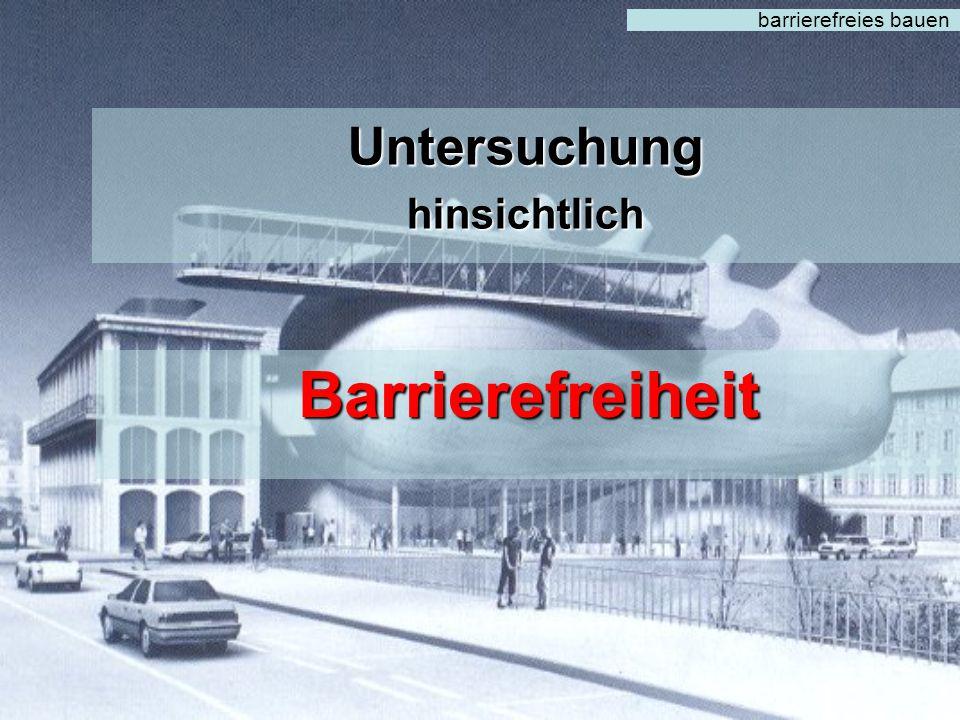 barrierefreies bauen Perfekte Ausarbeitung