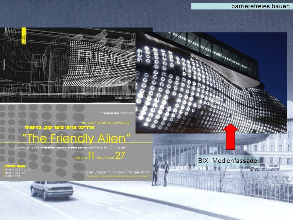 barrierefreies bauen Architektur spacelab / Peter Cook, Colin Fournier Bauzeit 2001-2003 Hauseröffnung 27. September 2003 Ausstellungsfläche 2.500 m2