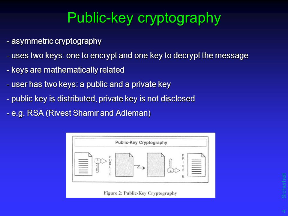 "5 Sicherheit SET - Encryption - confidentiality is ensured - using a randomly generated symmetric encryption key - key encrypted using the message recipient's public key - ""digital envelope of the message ({M} SK {SK} PUBK_REC ) - provide highest degree of protections (keys cannot be easily reproduced) Programming methods Programming methods Random number generation algorithms Random number generation algorithms"