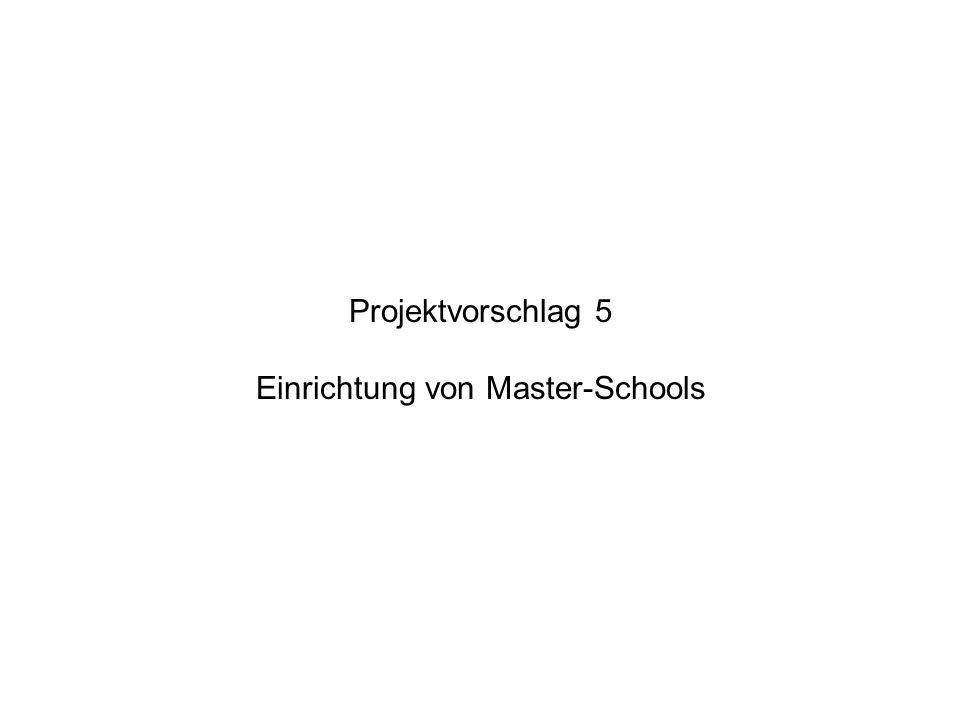 Projektvorschlag 5 Einrichtung von Master-Schools