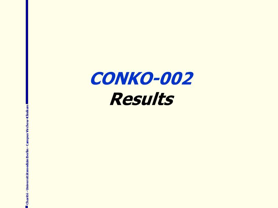 Charité - Universitätsmedizin Berlin - Campus Virchow-Klinikum CONKO-002 Results
