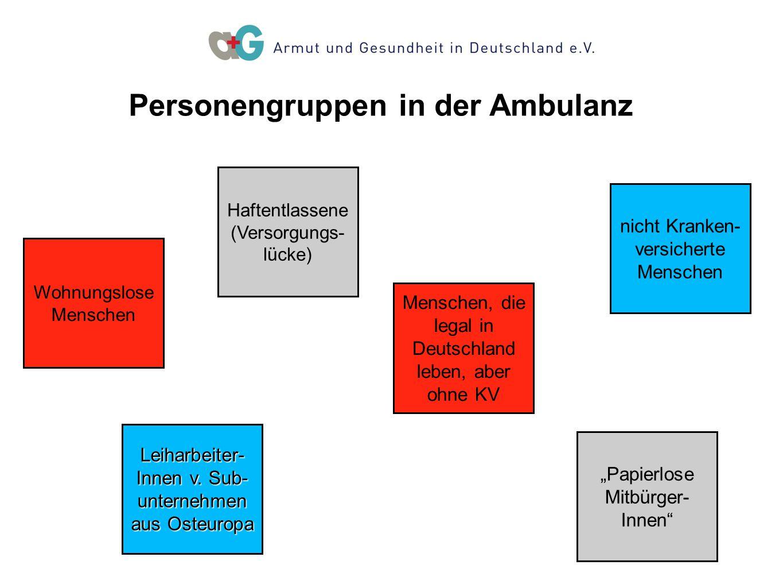 12.30-13.30 Uhr Entspannung 14-15 Uhr 12.30-13.30 Uhr Entspannung 14-15 Uhr Personengruppen in der Ambulanz Menschen, die legal in Deutschland leben,