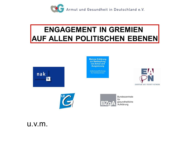 ENGAGEMENT IN GREMIEN AUF ALLEN POLITISCHEN EBENEN u.v.m.
