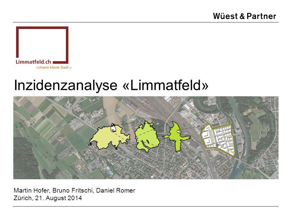 Inzidenzanalyse «Limmatfeld» Martin Hofer, Bruno Fritschi, Daniel Romer Zürich, 21. August 2014