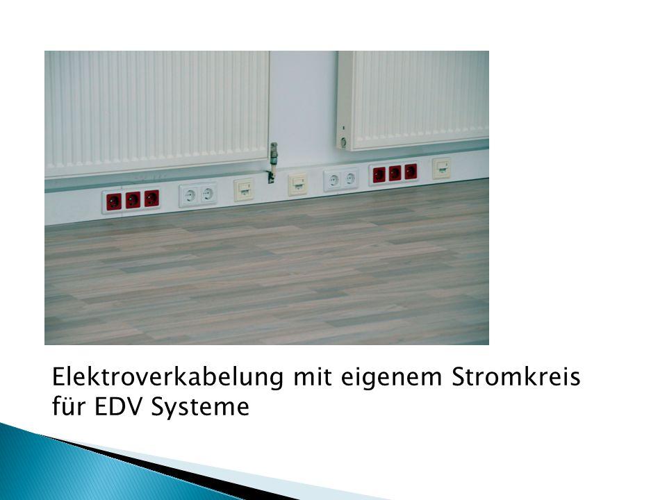 Elektroverkabelung mit eigenem Stromkreis für EDV Systeme