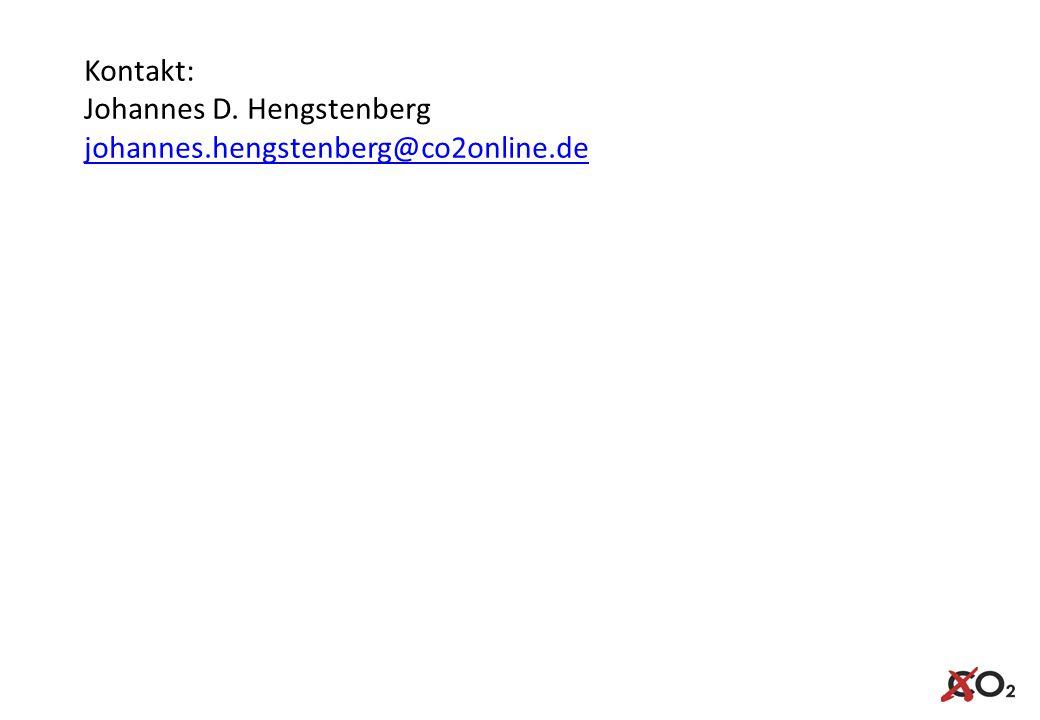 Kontakt: Johannes D. Hengstenberg johannes.hengstenberg@co2online.de