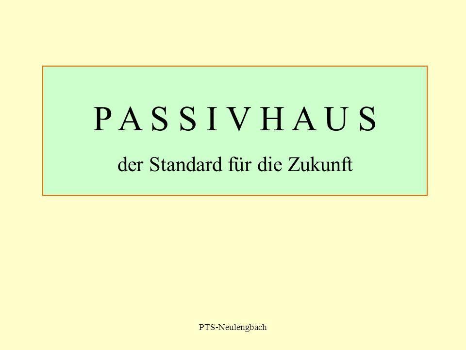 PTS-Neulengbach P A S S I V H A U S der Standard für die Zukunft