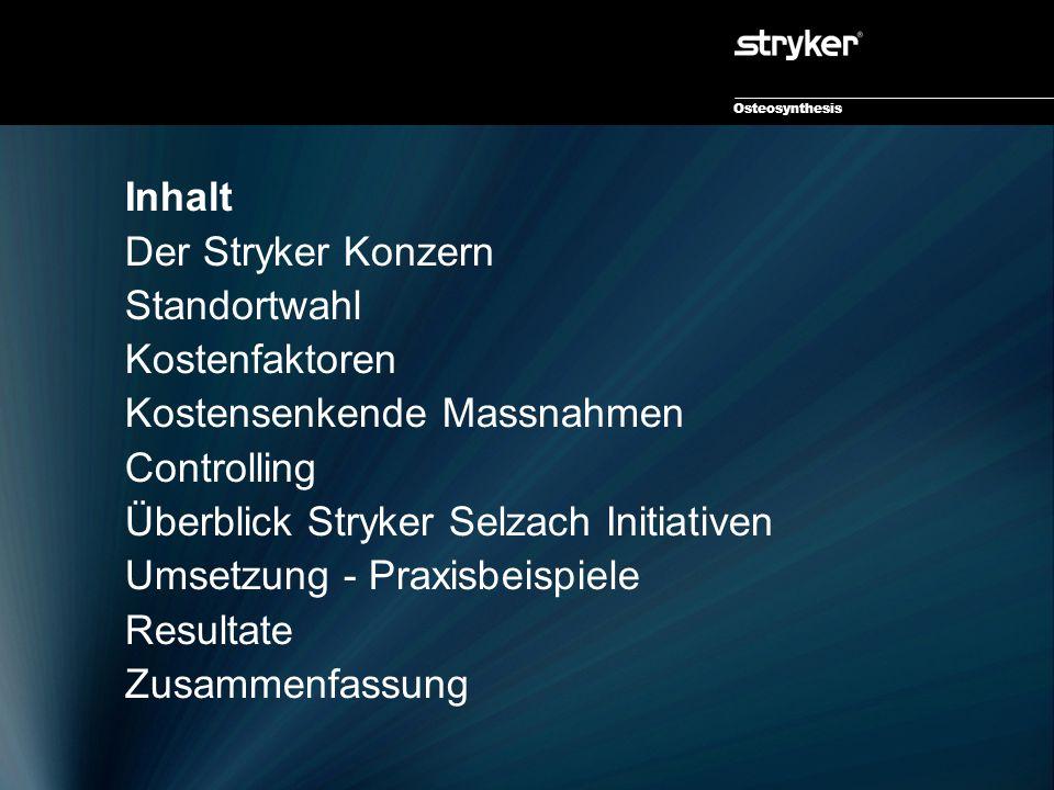 Osteosynthesis Die Anfänge des Stryker Konzerns Dr.