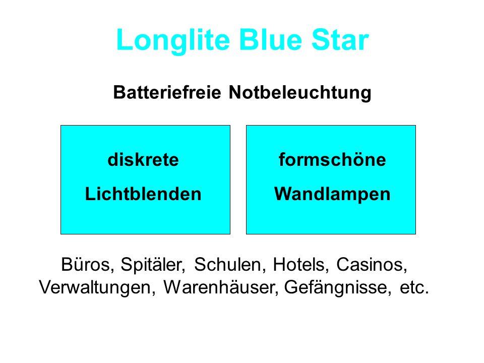 Longlite Blue Star Nachleuchtende Lampenblenden ohne Zusatzkosten.