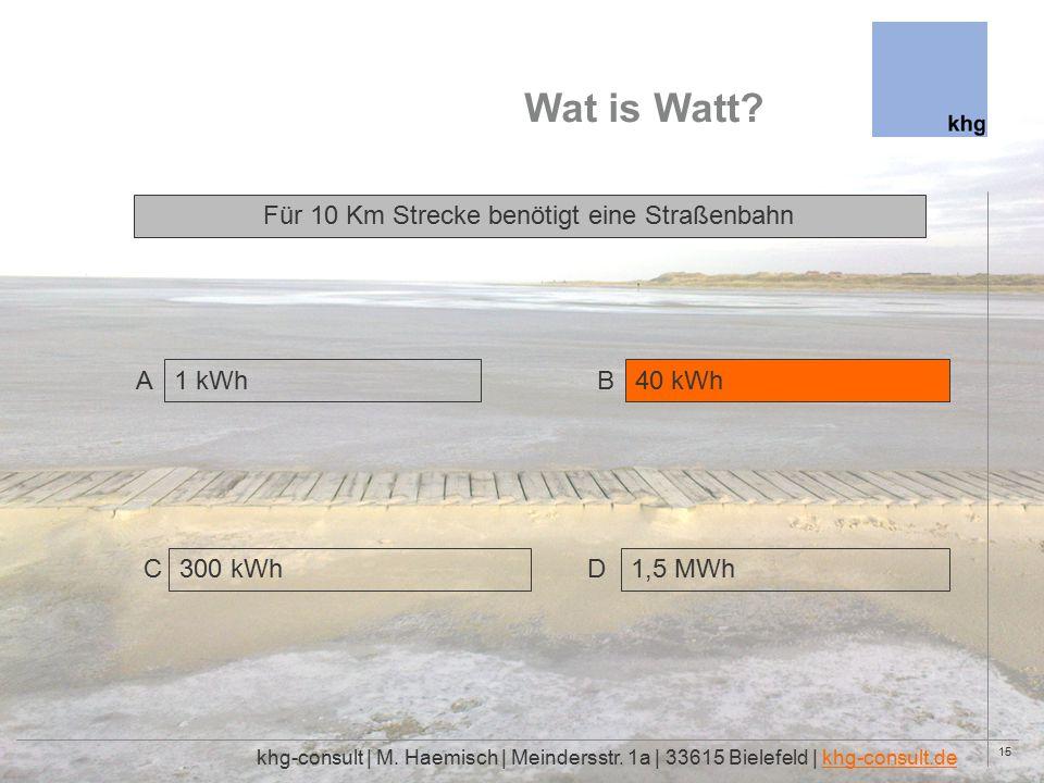 15 Wat is Watt. khg-consult | M. Haemisch | Meindersstr.