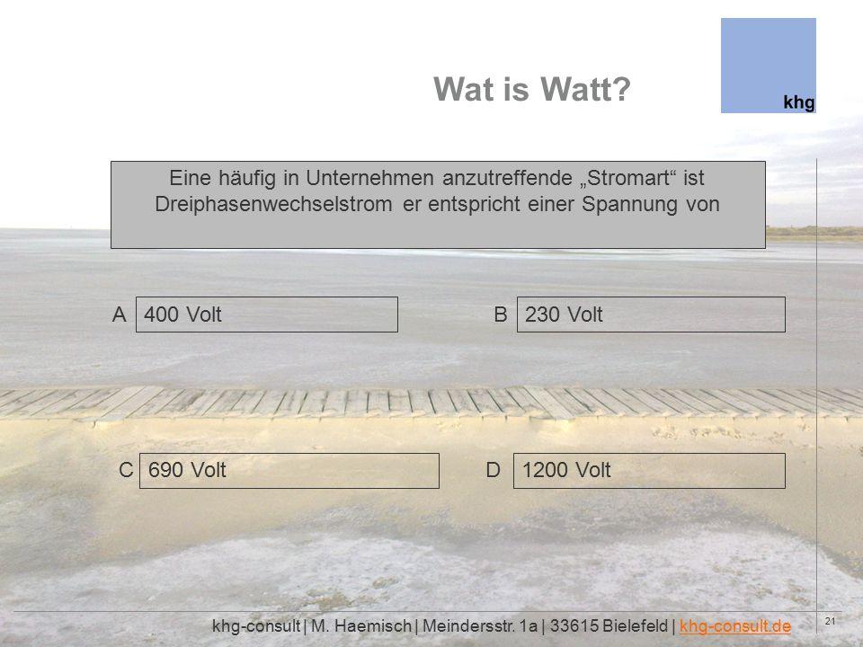 21 Wat is Watt. khg-consult | M. Haemisch | Meindersstr.