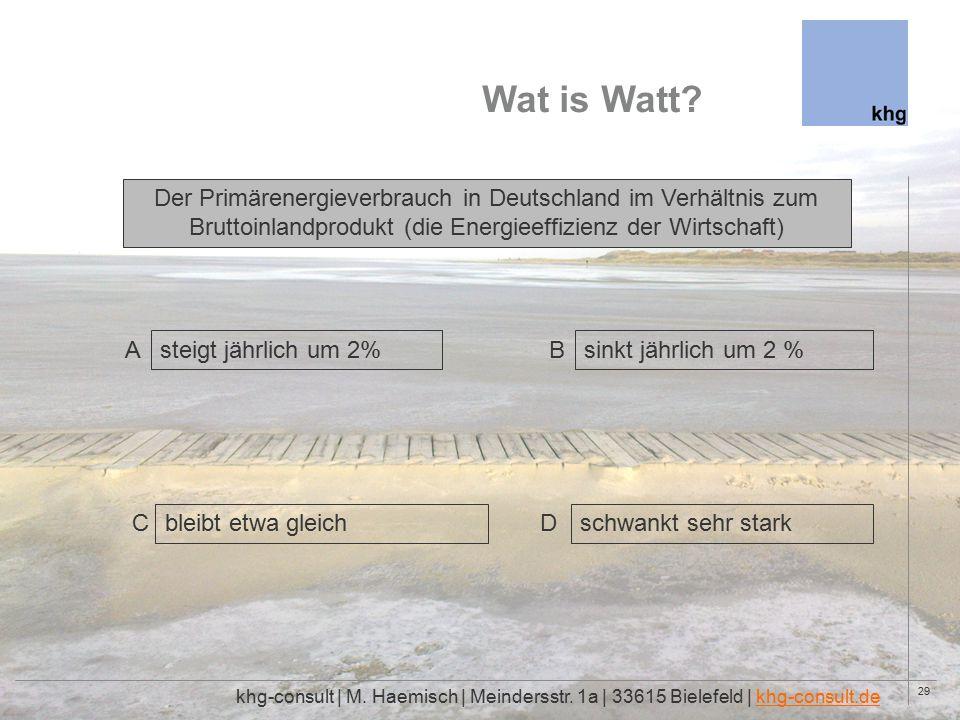 29 Wat is Watt. khg-consult | M. Haemisch | Meindersstr.